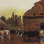 Animal Farm in the village Neskuchnoye, Zinaida Serebryakova