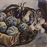 Basket of melons and squash, Zinaida Serebryakova