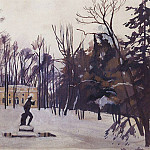 Winter in Tsarskoye Selo. The top bath, Zinaida Serebryakova