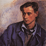 Portrait of the son Alexander, Zinaida Serebryakova