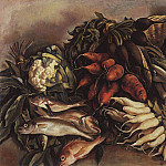 Fish on the greens, Zinaida Serebryakova