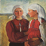 Two peasant girls, Zinaida Serebryakova