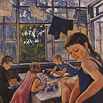 On the terrace in Kharkov, Zinaida Serebryakova