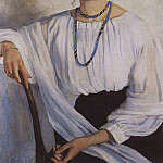 Portrait of E. E. Zelenkova, nee Lancer, sister of the painter, Zinaida Serebryakova