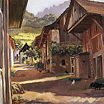 Zinaida Serebryakova - Alps The village in the Savoie