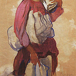 Zinaida Serebryakova - The peasant woman with rolls of canvas on his shoulder and in the hands