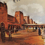 Marrakesh, walls and towers of the city, Zinaida Serebryakova