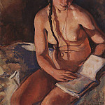 Zinaida Serebryakova - Nude with a book