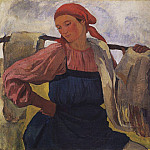 Zinaida Serebryakova - The peasant woman with a yoke
