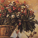 Basket with flowers, Zinaida Serebryakova