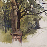 Faun statue in the garden of the Yusupov in Petrograd, Zinaida Serebryakova