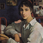 Self-portrait with a white blouse, Zinaida Serebryakova