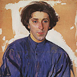 Portrait of the writer G. I. Chulkov, Zinaida Serebryakova
