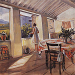 Terrace in Collioure, Zinaida Serebryakova