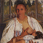 The nurse with a baby, Zinaida Serebryakova