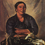 Zinaida Serebryakova - The seller vegetables. Nice
