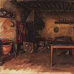 Zinaida Serebryakova - Country kitchen. The area Budzhiano