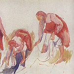 Etude for the painting Whitening canvas 2, Zinaida Serebryakova