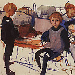 Zinaida Serebryakova - In the children's room, Neskuchnoye