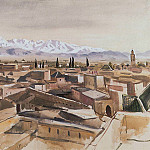 Marrakesh, view from the terrace of the Atlas mountains, Zinaida Serebryakova