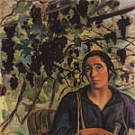 Italian peasant in the vineyard, Zinaida Serebryakova