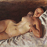 Sleeping model, Zinaida Serebryakova