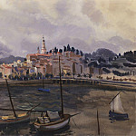 Menton. View from the harbor of the city, Zinaida Serebryakova