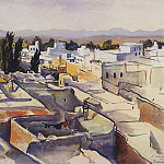 Morocco Sefrou, the roofs of the city, Zinaida Serebryakova