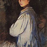 Zinaida Serebryakova - The girl with a candle. Self-portrait