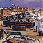Collioure. Port with boats, Zinaida Serebryakova