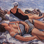 On the beach, Zinaida Serebryakova