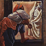 Zinaida Serebryakova - Morocco. the figures in the doorway