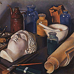 Still life Attributes of art, Zinaida Serebryakova