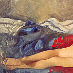 Zinaida Serebryakova - Lying Nude Kate. Canvas, oil. 68x122.5