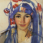 Self-portrait with scarf, Zinaida Serebryakova