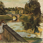 Zinaida Serebryakova - The bridge in Gatchina. Karpin pond
