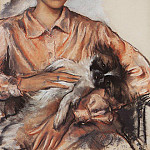 Portrait of a Lady with the Dog J. Whelan, Zinaida Serebryakova