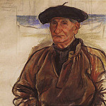Old fisherman, Zinaida Serebryakova