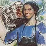Cassis. The peasant woman with a basket, Zinaida Serebryakova