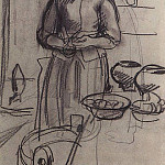 Zinaida Serebryakova - The peasant woman in the kitchen