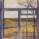 The view from the window, Neskuchnoye, Zinaida Serebryakova