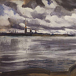 View of the Peter and Paul Fortress, Zinaida Serebryakova