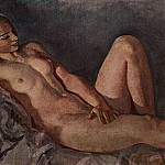 Zinaida Serebryakova - The Model leaning on her elbow