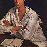 Portrait of E. I. Zolotarevskii a child, Zinaida Serebryakova