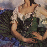 Portrait of A. D. Danilova in theatrical costume, Zinaida Serebryakova