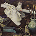 Zinaida Serebryakova - Still Life with Attributes of Art