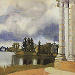 The lake in Tsarskoye Selo, Zinaida Serebryakova