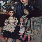 Katya with the dolls, Zinaida Serebryakova
