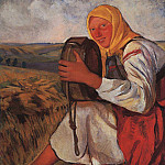 The peasant woman with kvasnik, Zinaida Serebryakova