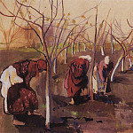 Zinaida Serebryakova - Dig round the trees in the garden